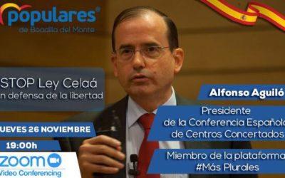 Conferencia de Alfonso Aguiló, presidente de la Confederación Española de Centros de Enseñanza, sobre la Ley Celaá