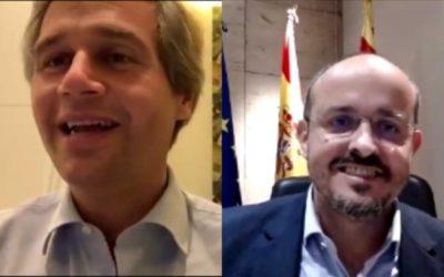 El presidente del PP catalán analiza en un encuentro digital con Boadilla el traslado al Congreso del «procés»